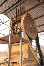 Stamp mill for crushing and milling gold ores for small-scale gold miners